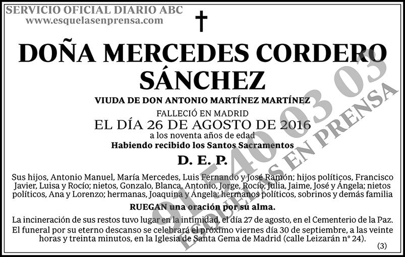 Mercedes Cordero Sánchez